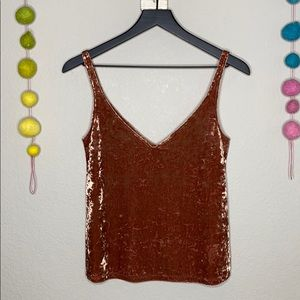 Crushed velvet tank top